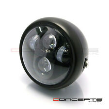 "Universal Motorbike 6"" Matt Black LED Headlight Honda CB 1000 R 1300 S Project"