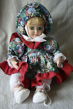 Vintage Ceramic Porcelain Animated Wind Up Doll Music Box 521521