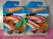 2011 Treasure Hunt Super & Regular DATSUN 240Z lot ✿Red✿Hot Wheels✿protecto pak
