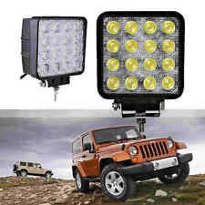 2x 48W 16 LED Work Lamp Light Bar Spot Offroad Tractor Car Boat Truck 12V 24V