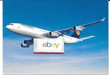 LUFTHANSA GERMAN AIRLINES AIRBUS A-340-200 AIRLINE ISSUE POSTCARD