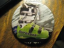 SureFoot Snow Ski Boots Winter Alpine Skier Advertisement Lipstick Pocket Mirror