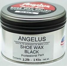 Angelus Professional Size Wax Shoe Polish BLACK 2.2 lb (1 KG)
