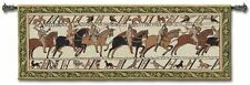 "Bayeux  Wall Tapestry 76""x27"" pictorial history of invasion of  England Normandy"