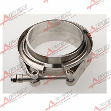 "Downpipe Intercooler Turbo 2.25"" V-BAND CLAMP & FLANGE KIT Mild Steel Flange"