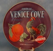 "8"" Rooster Plate Oneida Vintage Label Collection Plate Pride of Venice Cove Cal."