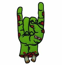 Rock Symbol Zombie Hand Green heavy Metal Jacket Embroidered Iron On Patch 666