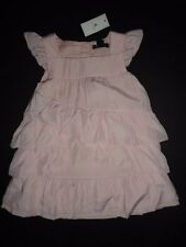 NWT Baby Gap 18-24 Months Tiered Ruffle Pink Flutter Sleeve Dress