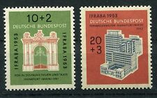 GERMANY 1953 IFRABA MNH Set 2 Stamps cat Euro 60