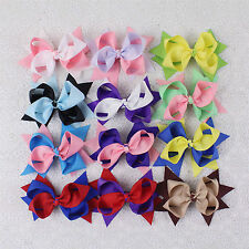 Wholesale 12pc 4inch Handmade Hair Bows 2 Colors Dovetail Hair Accessories 252B