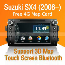 2 Din Car Dash DVD Player Radio Stereo GPS Navigation BT for Suzuki SX4 (2006-)