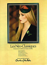 PUBLICITE ADVERTISING 034   1979   CHARLES OF THE RITZ  cosmétiques NEO-CLASSIQU