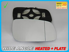 Wing Mirror Glass VW Bora 1998-2005 Wide Angle HEATED Right Side #1039