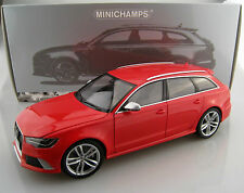 AUDI RS 6 Avant 2013 in rosso minichmps scala 1:18 OVP NUOVO