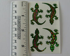 Hambly LIZARDS, SMALL Strip of 2 Squares PRISMATIC Lizard Stickers