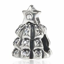 CHRISTMAS TREE OF LIGHTS 925 sterling silver charm bead fits european bracelet