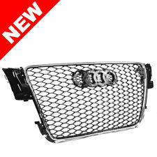 08-12 AUDI A5/S5 B8 8T RS5 STYLE EURO HONEYCOMB HEX MESH GRILLE - CHROME
