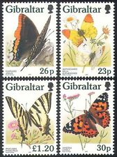Gibraltar 1997 Butterflies/Insects/Flowers/Nature/Butterfly  4v set (s4422b)