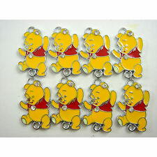 Wholesale 8 pcs Winnie The Pooh Jewelry Making Metal Figure Pendant Charms +GIFT