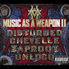 Music as a Weapon II [CD & DVD] [PA] NEW DISTURBED CHEVELLE TAPROOT UNLOCO