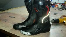 Alpinestars Black boots Motorbike Shoes Motorcycle Racing Custom Made