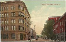 View on South Third Street in Easton PA Postcard