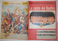 LA DOMENICA DEL CORRIERE 4 luglio 1965 Beatles Napoli calcio Marcinelle Tonati