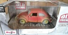 "VW COX BEETLE ""OLD FRIENDS"" - MAISTO 1/25 NO 1/24 NEUF"