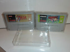 12 x snes super nintendo game cartridge protector .4 thick