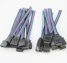 10PCS Male + 10PCS Female 4Pin With Wire Connector For 3528 5050 RGB LED Strips