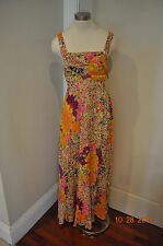 New H&M Floral Hippie Boho Maxi Dress Cut out back Flower child sz. 6
