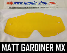 GOGGLE-SHOP REPLACEMENT LENS for 100% MOTOCROSS MX GOGGLES YELLOW TINT ACCURI