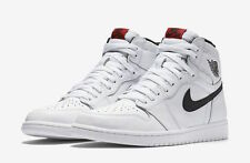 2016 Nike Air Jordan 1 Retro High OG SZ 9.5 White Black Yin Yang Red 555088-102