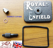 ALLOY TAPPET COVER RAISED SILVER ROYAL ENFIELD SPARES PARTS LOGO WITH SEAL STUD