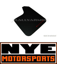 RALLY ARMOR BASIC UNIVERSAL MUD FLAPS BLACK W/ RED LOGO LANCER WRX STI EVO