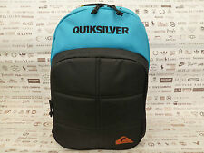 QUIKSILVER Organizer BACKPACK Black/Blue RUCKSACK Strong Padded Travel Bag BNWT
