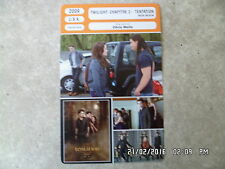 CARTE FICHE CINEMA 2009 TWILIGHT CHAPITRE 2 TENTATION Kristen Stewart Pattinson