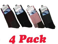 4 Pair x Women's Wool Blend Extra Thick  Sole Winter  Socks Shoe Size 6 - 9