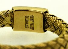 Vintage (pre 1996) Roberto Coin Italian 18kt yellow gold woven band ring size 6