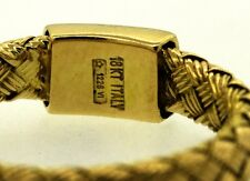 Roberto Coin Italian 18kt yellow gold woven band ring size 6