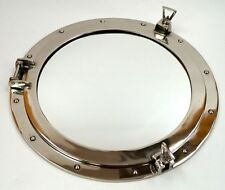 "20"" Porthole Mirror ~ Chrome Finish ~ Aluminum ~ Nautical Maritime Port Hole"