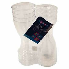 Plastic Wine Glasses Pack of 32 for Weddings Parties BBQs Picnics Disposable