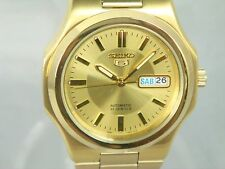 Seiko 5 Automatic SNKK52 men's Gold-Tone Stainless Steel Watch