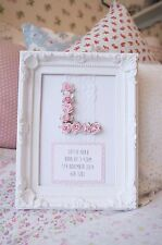 Vintage Shabby Chic Rose Initial Personalised Ornate Frame Gift Nursery Decor