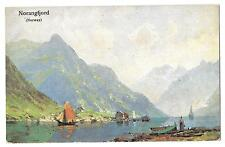 Norway On Norangfjord Artist signed c1905, Unposted PPC, Undivided Back