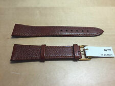 New - MORELLATO Brown Leather Strap 20 mm - Correa Piel Marrón - Nueva
