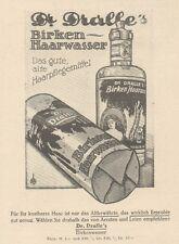 Y6123 Dr. Dralle's BIRKEN HAARWASSER - Pubblicità d'epoca - 1925 Old advertising