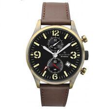 Reloj Cronógrafo ACCURIST para hombre de cuero marrón esfera de lectura fácil 7023
