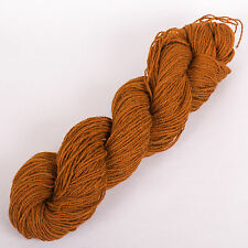 100g*PURE BRITISH WOOL*DK.Brown.Double knitting.shetland.tweed.yarn.scottish.cow