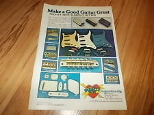 Mighty Mite custom guitar parts-1979 magazine advert